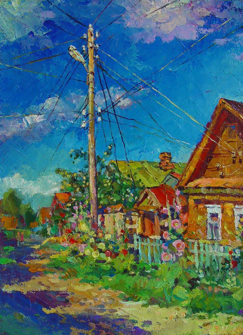 Т.Аникина  Лето в деревне х.м. 50х35