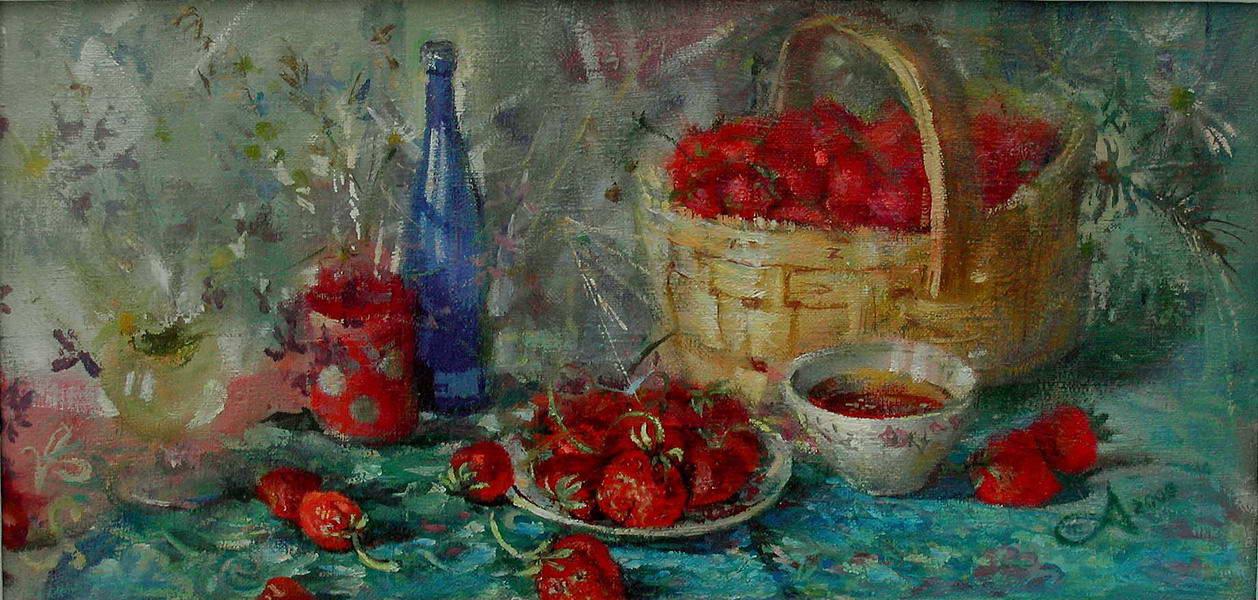 Картина Корзина с ягодой