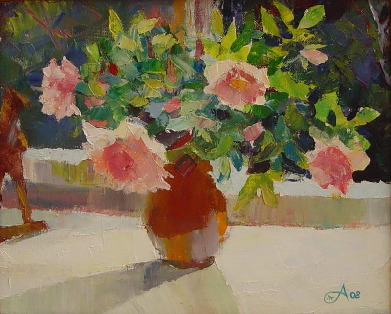 Т.Аникина Розы для Мишель х.,м. 25х35