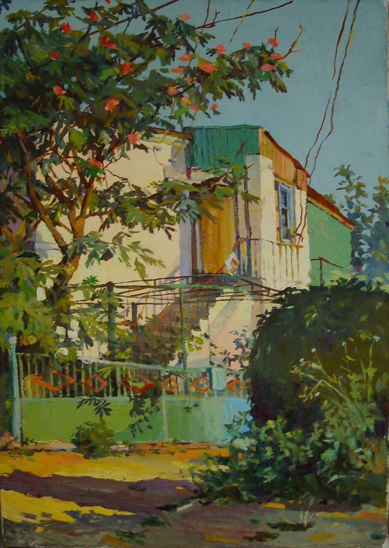 Картина Домик в Тамани х.м. 50х30