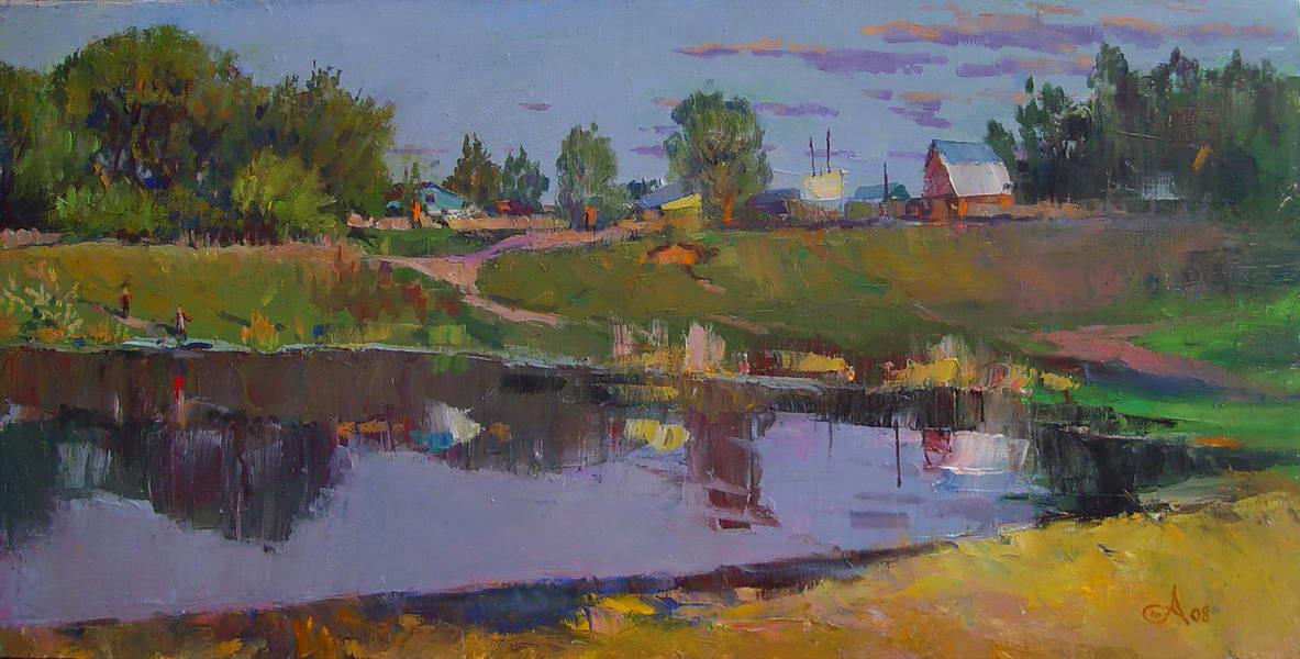 Картина Летний вечер х.,м. 35х70