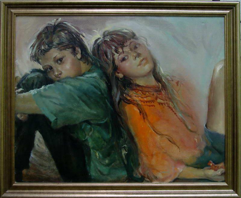 Картина Дети х.м. 50х60