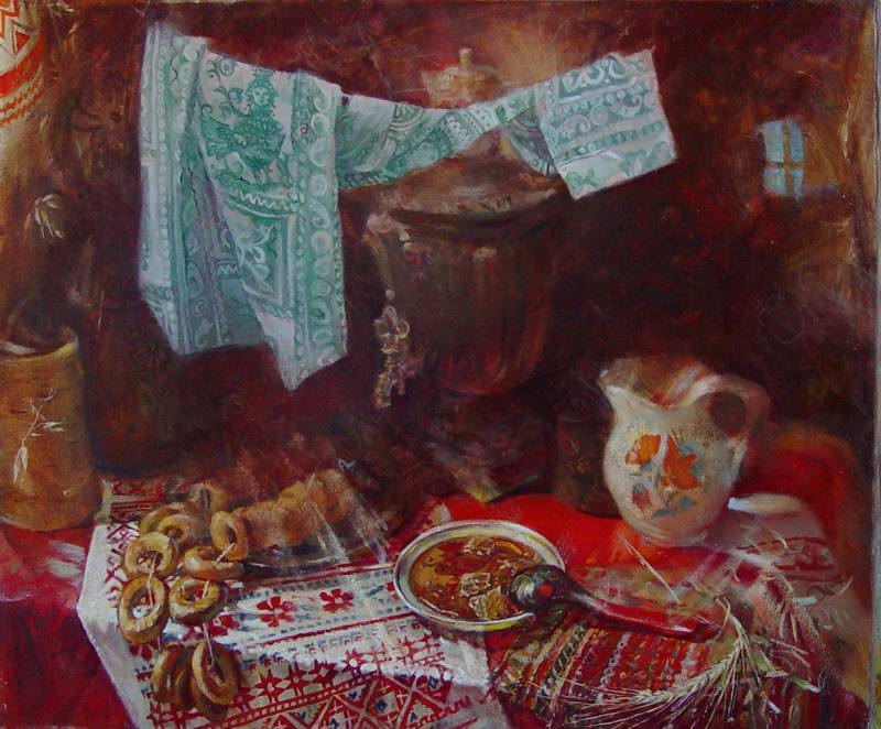 Картина У самовара
