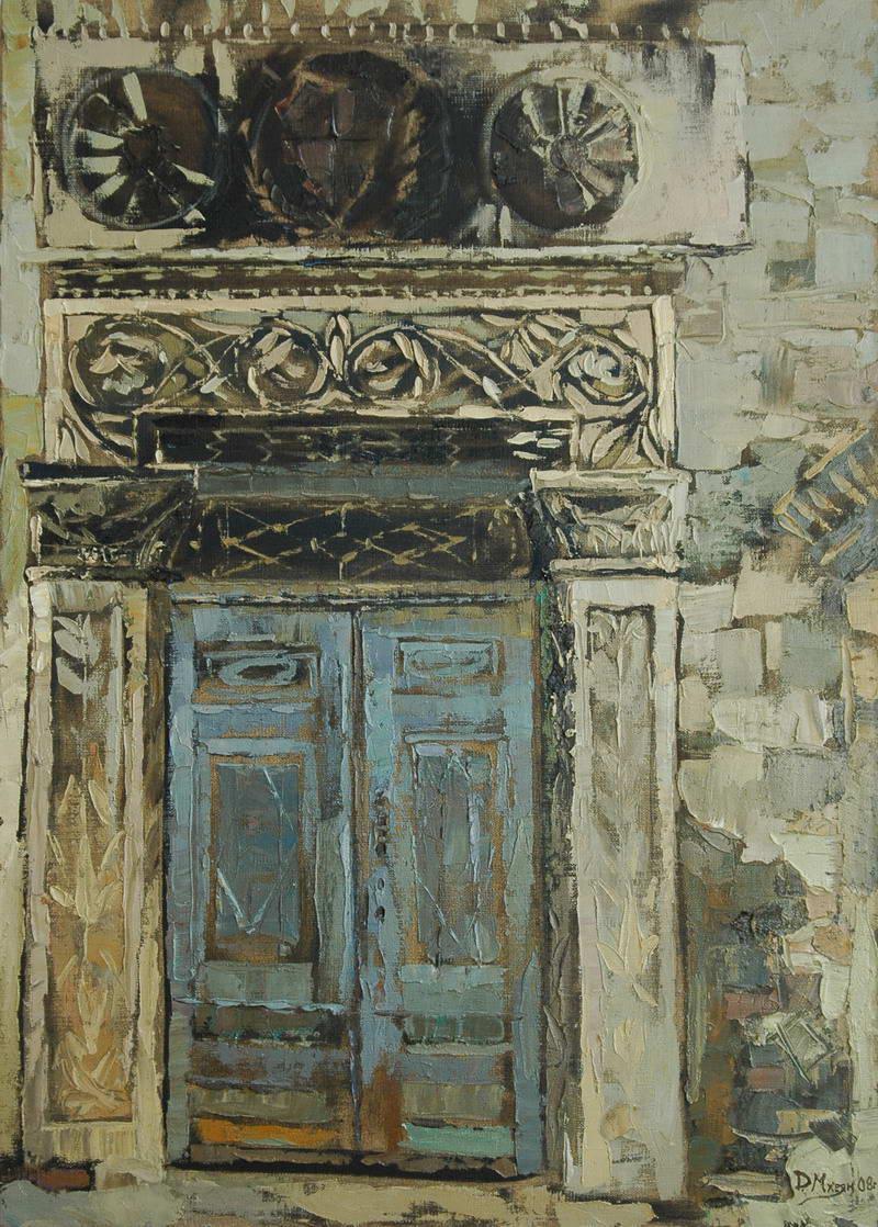Картина 0018 Двери ратуши  70х50(2008г.).JPG