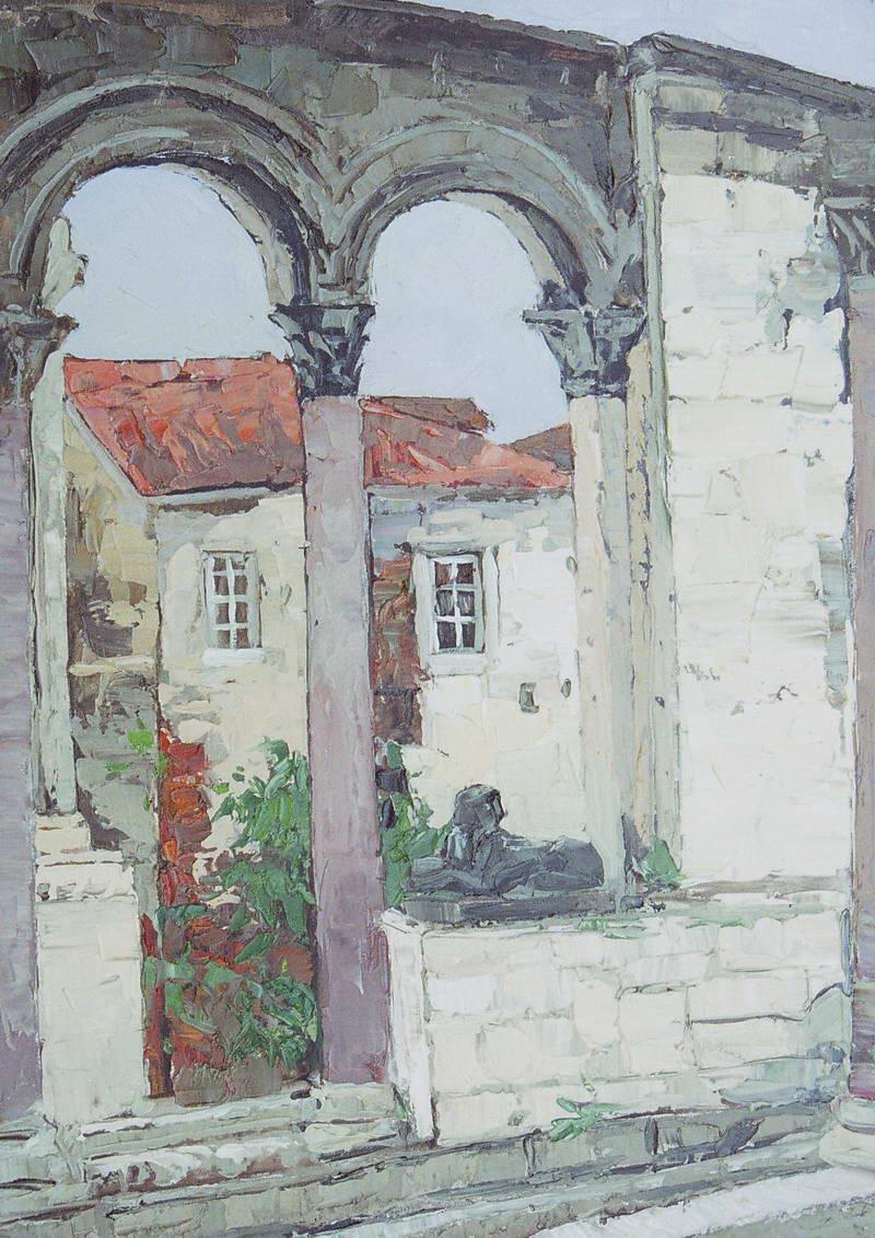 Картина 0026 Во дворце Диоклетиана 50х35 (2006г.)